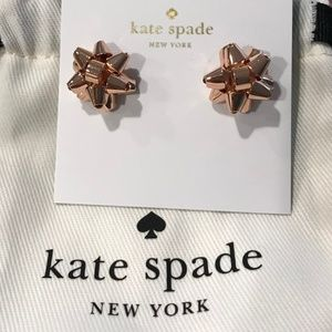Kate Spade Bourgeois Bow Studs in Rose Gold